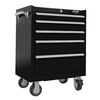 Viper Tool 35.5-in x 26-in 5-Drawer Ball-Bearing Steel Tool Cabinet (Black)