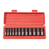 TEKTON 12-Piece 3/8-in Drive Standard 6-Point Impact Socket Set with Case