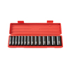 TEKTON 14-Piece 1/2-in Drive Standard 6-Point Impact Socket Set with Case