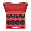 TEKTON 8-Piece 3/4-in Drive Standard 6-Point Impact Socket Set with Case