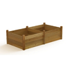 Gronomics 48-in W x 95-in L x 26-in H Rustic Cedar Raised Garden Bed