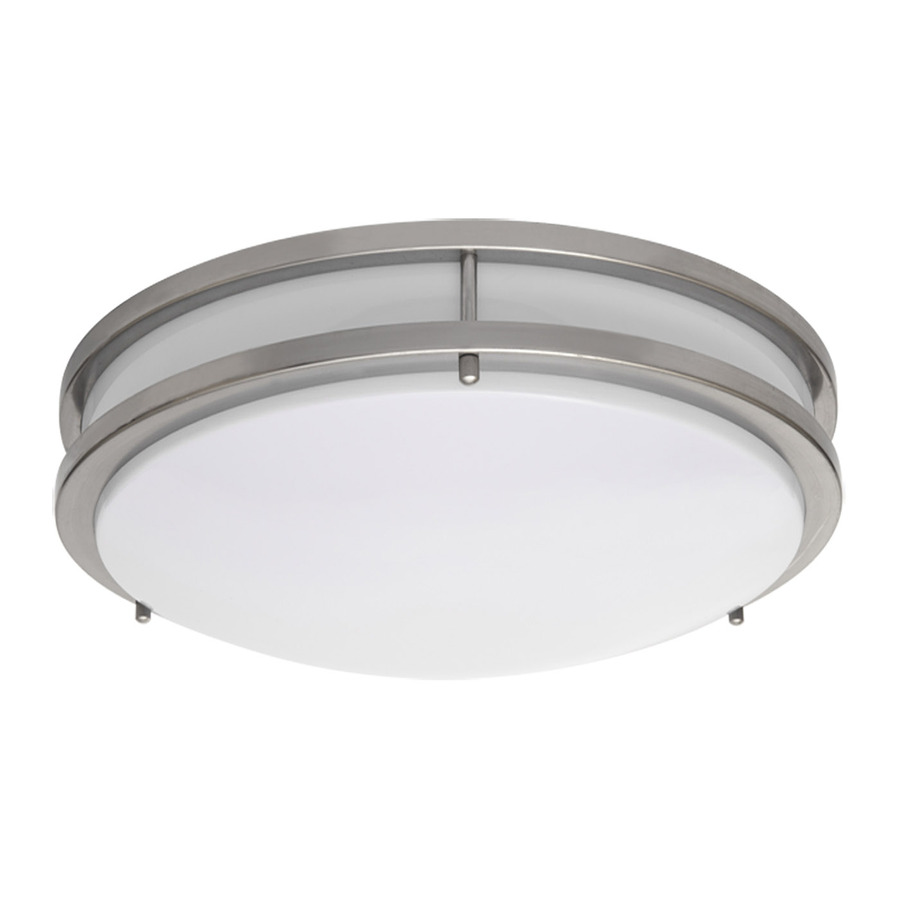 Led Lighting Fixtures : Shop Amax Lighting LED Ceiling Fixtures 17-in W Brushed Nickel LED ...