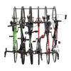Monkey Bar 6-Bike Silver Steel Bike Rack
