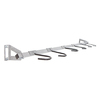 Monkey Bar 6-Bike Silver Steel Bike Rack