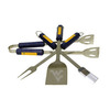 BSI Products 4-Piece West Virginia University Mountaineers Stainless Steel Tool Set