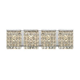 Lowes Crystal Vanity Lights : Shop Z-Lite 4-Light Galati Chrome Crystal Bathroom Vanity Light at Lowes.com