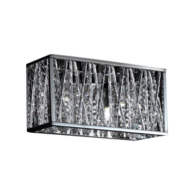 Vanity Lights With Crystal Accents : Z-Lite 2-Light Lagoon Chrome Crystal Accent Bathroom Vanity Light