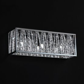 Shop Z-Lite 3-Light Lagoon Chrome Crystal Accent Bathroom Vanity Light at Lowes.com