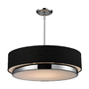 Z-Lite Jade 22-in W Chrome Pendant Light with  Shade