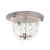 JVI Designs Mclean 14-in W Pewter Ceiling Flush Mount Light