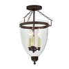 JVI Designs Danbury 11-in W Oil Rubbed Bronze Clear Glass Semi-Flush Mount Light