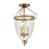 JVI Designs Danbury 11-in W Rubbed Brass Clear Glass Semi-Flush Mount Light