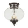 JVI Designs Classic Onion 10-in W Oil Rubbed Bronze Ceiling Flush Mount Light