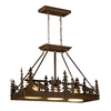 Cascadia Yellowstone 14.5-in W 3-Light Burnished Bronze Kitchen Island Light with Frosted Shade