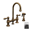 Whitehaus Collection Vintage III Oil Rubbed Bronze 2-Handle Bar Faucet with Side Spray