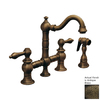 Whitehaus Collection Vintage III Antique Brass 2-Handle Bar Faucet with Side Spray