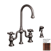 Whitehaus Collection Twisthaus Antique Copper 2-Handle Bar Faucet with Side Spray