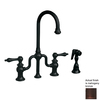 Whitehaus Collection Twisthaus Mahogany Bronze 2-Handle Bar Faucet with Side Spray