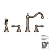 Whitehaus Collection Vintage III Polished Chrome 2-Handle Bar Faucet with Side Spray