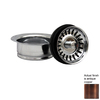 Whitehaus Collection 3.5-in Dia Copper Stopper Sink Strainer and Disposal Flange Combo