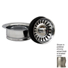 Whitehaus Collection 3.5-in Dia Brushed Nickel Stopper Sink Strainer and Disposal Flange Combo
