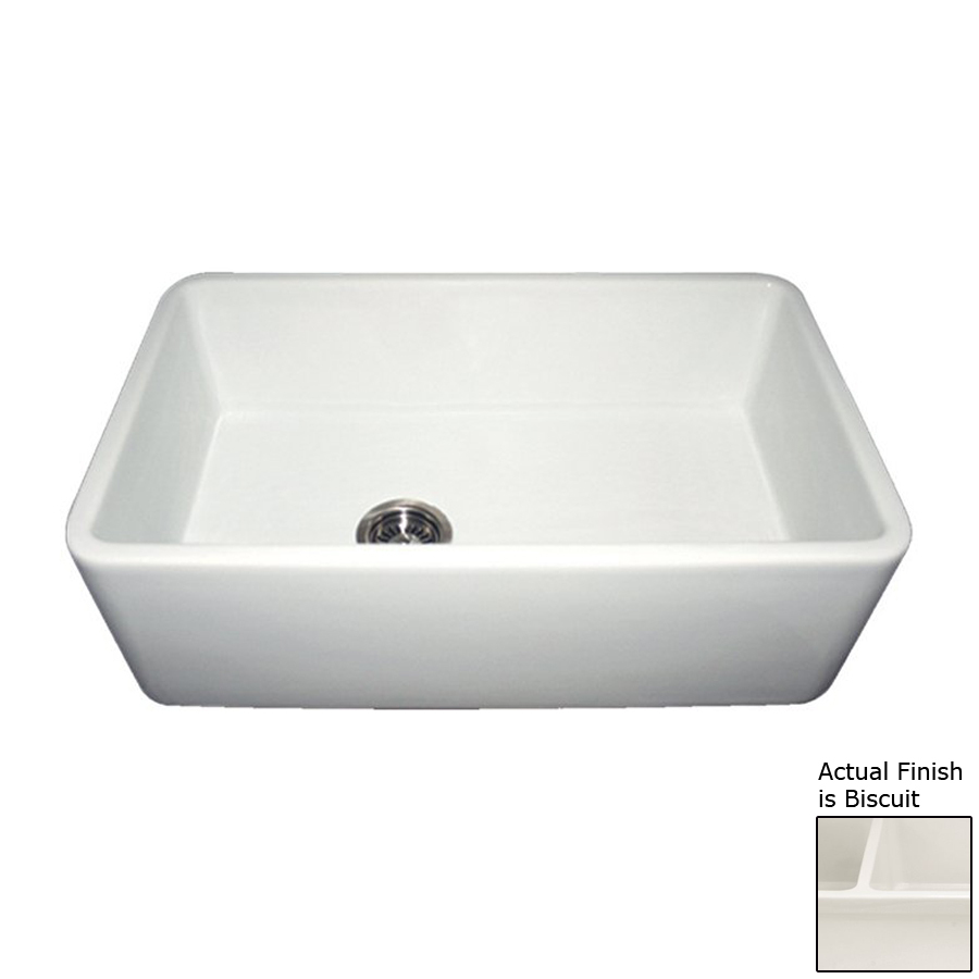 Fireclay Apron Front Sink : ... Single-Basin Apron Front/Farmhouse Fireclay Kitchen Sink at Lowes.com