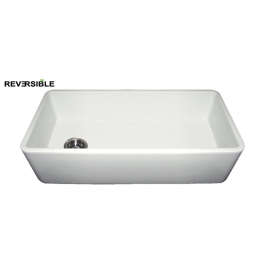 Fireclay Apron Front Sink : ... Single-Basin Fireclay Apron Front/Farmhouse Kitchen Sink at Lowes.com