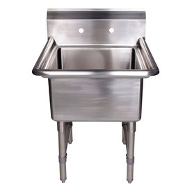 Stainless Steel Utility Sink Freestanding : ... Brushed Stainless Steel Freestanding Laundry Utility Sink at Lowes.com
