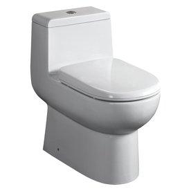 Whitehaus Collection Magic Flush White 1.6 Gpf (6.06 Lpf) 12-in Rough-in WaterSense Elongated Dual-Flush Standard Height Toilet