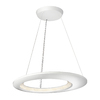 Philips Ecliptic 25.6-in W Matte White LED Pendant Light with White Shade