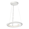 Philips Ecliptic 18.7-in W Matte White LED Pendant Light with White Shade