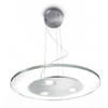 Philips Vidro 19.7-in W Brushed Nickel LED Pendant Light with Clear Shade