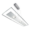 Philips Vidro 7.9-in W Brushed Nickel LED Pendant Light with Clear Shade