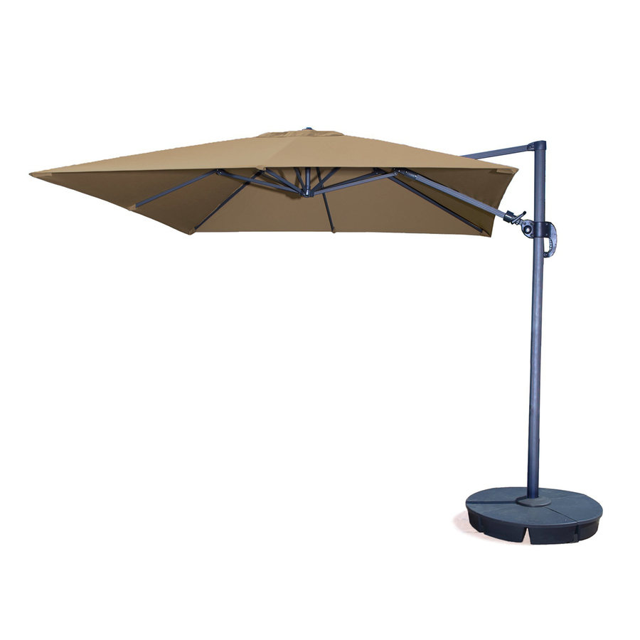 shop swim time square stone offset patio umbrella with