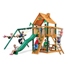 Gorilla Playsets Chateau II Residential Wood Playset with 3 Swings