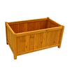 Leisure Season 32-in x 16-in Natural Cunninghamia Wood Planter