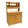 Leisure Season 42-in x 67-in x 24-in Brown Cunninghamia Potting Bench