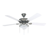 Canarm Kincade 52-in Brushed Pewter Downrod Mount Indoor Ceiling Fan with Light Kit (5-Blade)