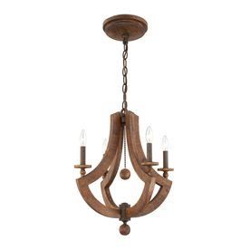 Eurofase Lenio 4-Light Wood Chandelier