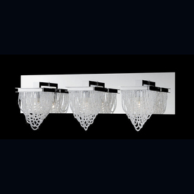 Shop Eurofase 3-Light Rio Chrome Crystal Accent Bathroom Vanity Light at Lowes.com