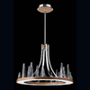 Eurofase Skyline 29.5-in W Chrome Pendant Light with Wood Shade