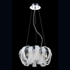Eurofase Sage 17.5-in W Chrome Crystal Accent Pendant Light with Crystal Shade