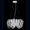 Eurofase Sage 25-in W Chrome Crystal Accent Pendant Light with Crystal Shade