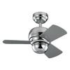 Monte Carlo Fan Company Micro 24 24-in Polished Nickel Downrod Mount Indoor/Outdoor Ceiling Fan (3-Blade)
