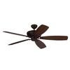 Monte Carlo Fan Company Bonneville Max 60-in Roman Bronze Downrod Mount Indoor Ceiling Fan (5-Blade) ENERGY STAR