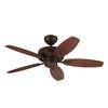 Monte Carlo Fan Company Centro Max II 44-in Roman Bronze Downrod or Close Mount Indoor Ceiling Fan (5-Blade)