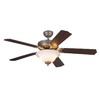 Monte Carlo Fan Company Homeowner Max 52-in Brushed Pewter Downrod or Close Mount Indoor Ceiling Fan with Light Kit (5-Blade) ENERGY STAR