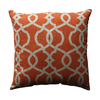 Pillow Perfect 16.5-in W x 16.5-in L Tangerine Square Indoor Decorative Complete Pillow
