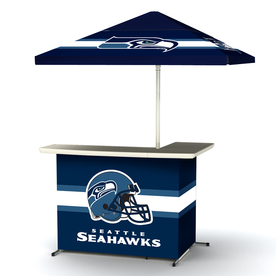Shop best of times seattle seahawks 63 in x 44 in l shaped bar at Home bar furniture seattle