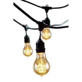 fans outdoor lighting string lights cascadia lighting 48 ft 15 light. Black Bedroom Furniture Sets. Home Design Ideas